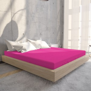 Hoeslaken Jersey 135 gr. Hot Pink
