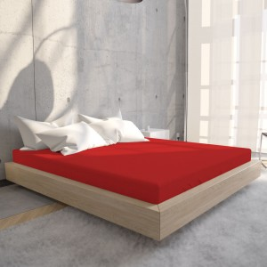 Hoeslaken Jersey 135 gr. Red
