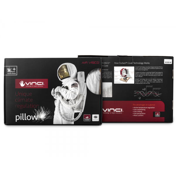 Vinci Down Deluxe Classic Pillow White #3